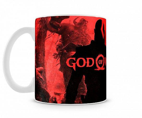 Caneca God Of War Vermelha