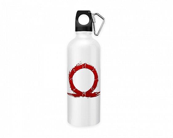 Squeeze aluminio branco God Of War Logo 3