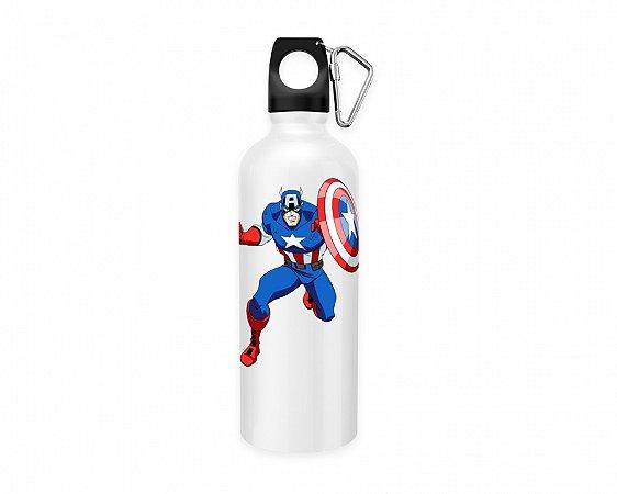 Squeeze aluminio branco Marvel Capitão América