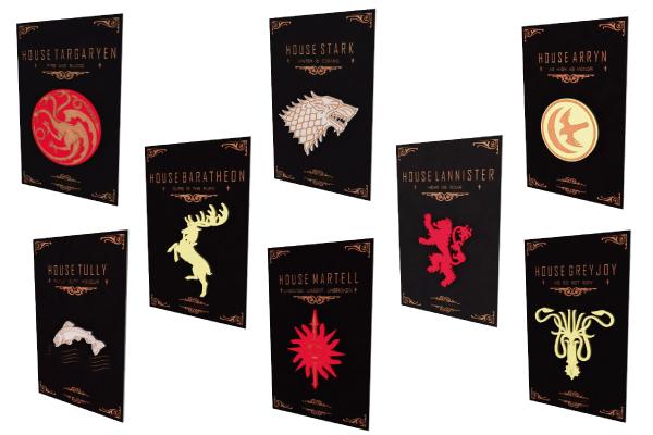 Kit com 8 Quadros relevo Game of Thrones