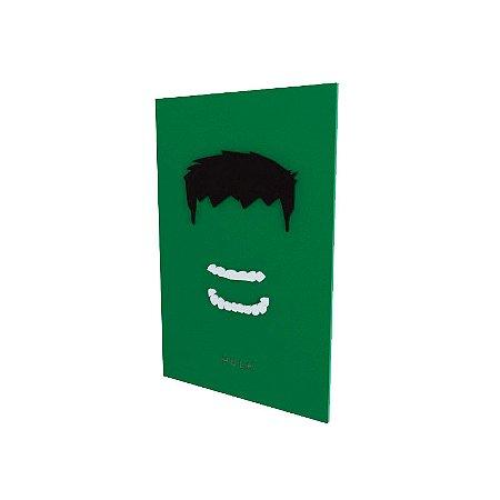 Quadro relevo Hulk
