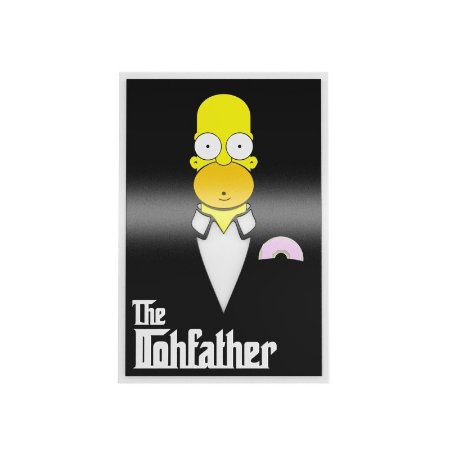Quadro relevo Homer The Dohfather
