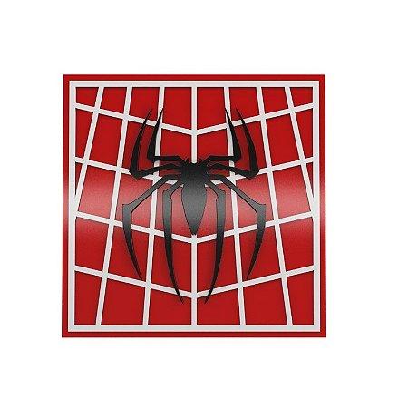Quadro relevo Homem Aranha