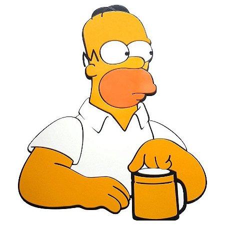 Quadro relevo Homer Pensativo