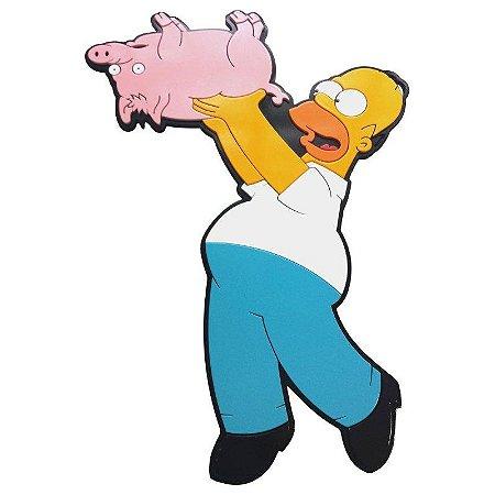 Quadro relevo Homer Porco Aranha