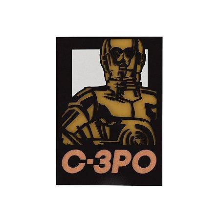 Quadro relevo Star Wars C3PO