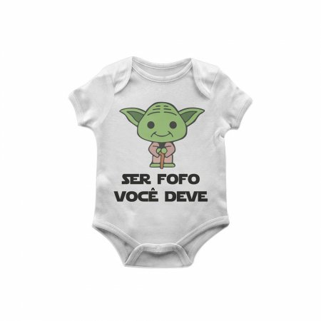 Body Bebê Star Wars Yoda fofo TAM M