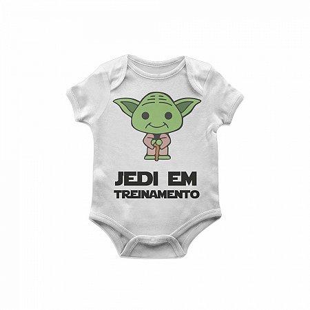 Body Bebê Star Wars Yoda jedi em treinamento TAM P