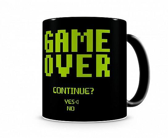 Caneca Game Over Continue Preta
