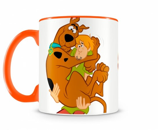 Caneca Scooby Doo e Salsicha III Laranja