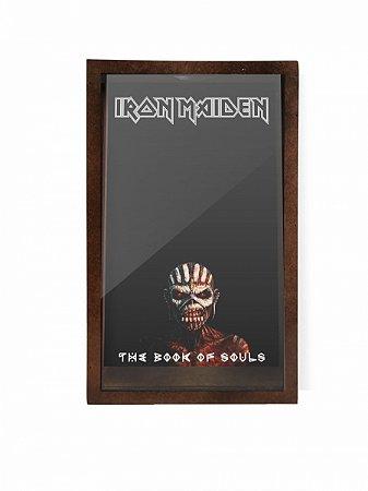 Quadro Porta Rolhas Iron Maiden The Book Of Souls