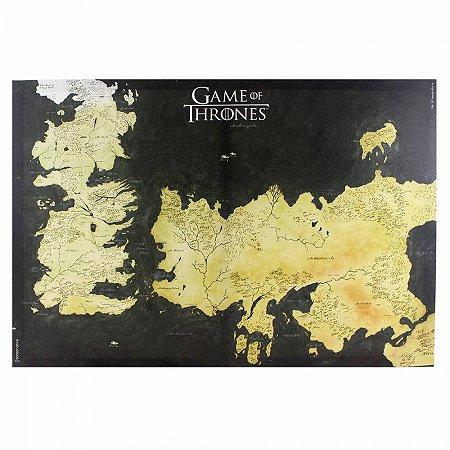 Quadro Canvas Mapa Westeros Game of Thrones - 70x50cm