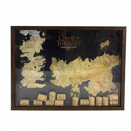 Quadro Coleção De Rolhas Game Of Thrones 32x27cm