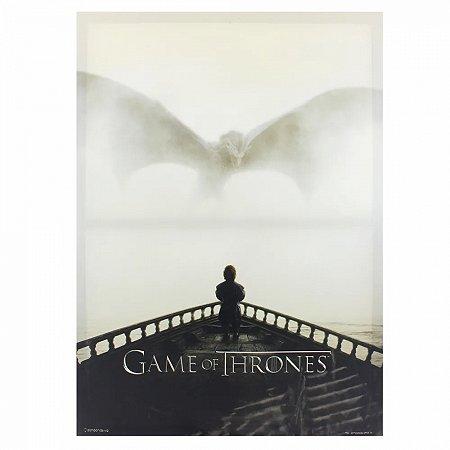 Quadro Canvas Dragon e Tyrion Game Of Thrones 70X50cm