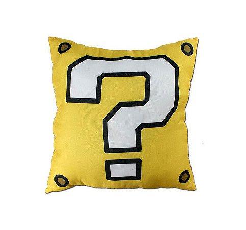 Almofada veludo Mario interrogação 25x25