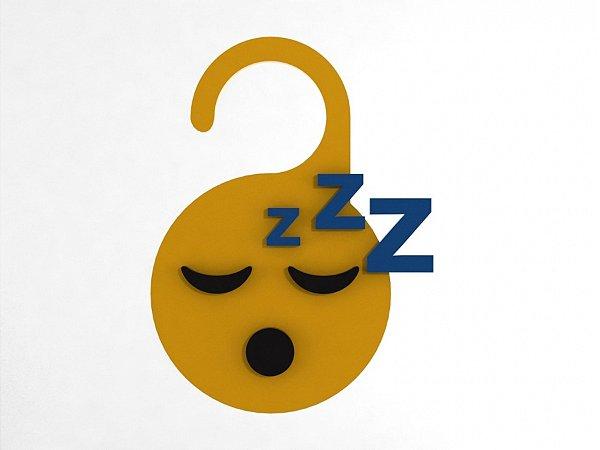 Aviso de Porta relevo Dormindo - MDF 10x21cm