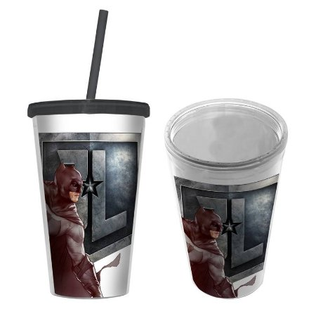 Copo Canudo Plastico Movie Batman Body Transparente