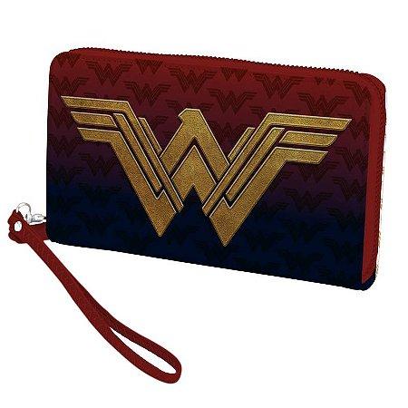 Carteira com ziper Mulher Maravilha Logo