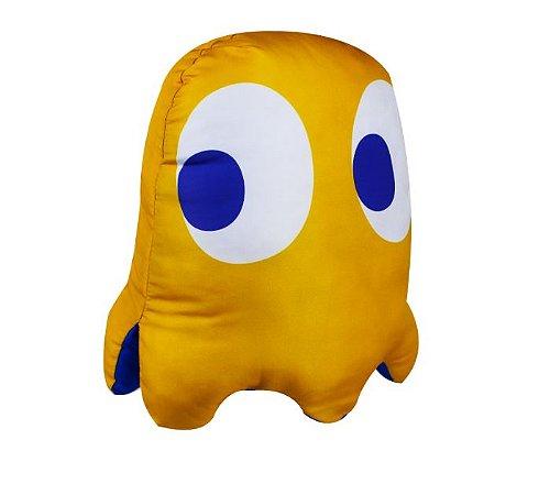 Almofada formato fantasma vice versa Pac Man clyde
