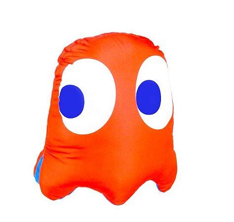 Almofada formato fantasma vice versa Pac Man blinky