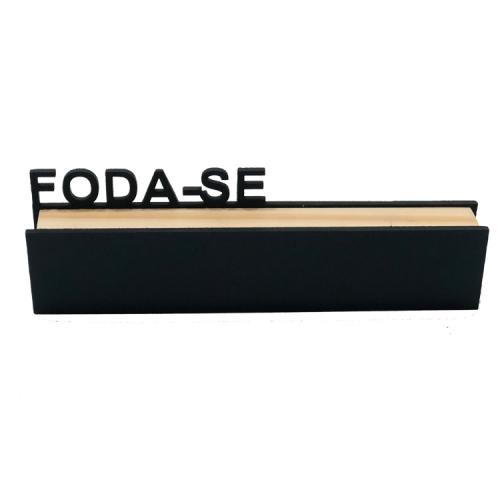 Bloco decorativo ffds madeira pura e MDF 6x20cm