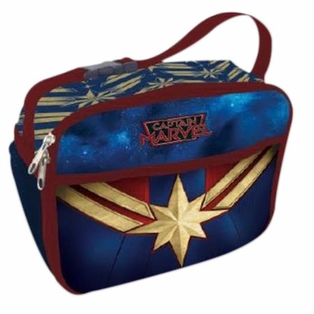 Lancheira Térmica Capitã Marvel 2 bolsos