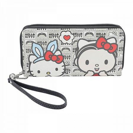 Carteira com ziper Hello Kitty e Monica Cute Girls