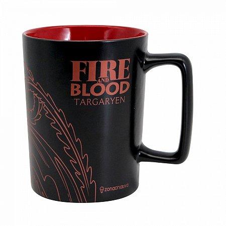 Caneca House Targaryen alça quadrada 500ml