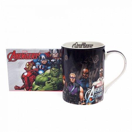 Caneca reta avengers preto dream mug 460ml
