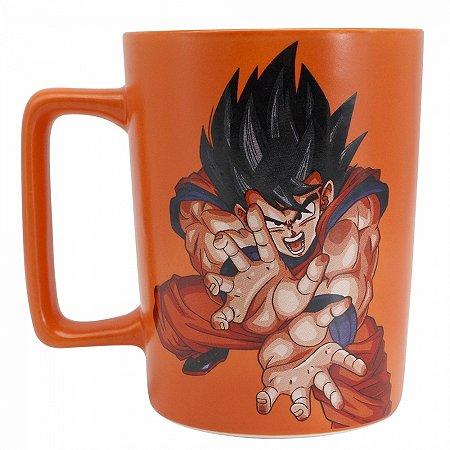 Caneca Goku Dargon Ball alça quadrada 500ml