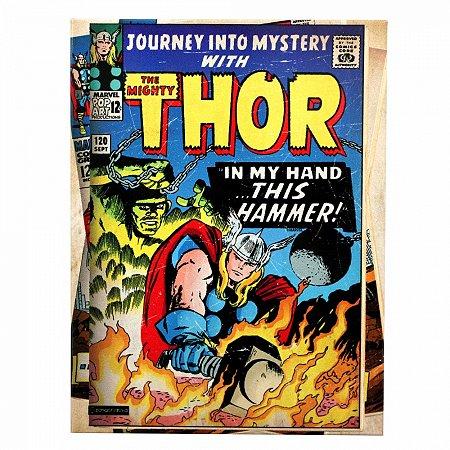 Quadro metal Thor HQ 26X19CM