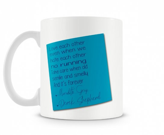 Caneca Greys Anatomy Post It