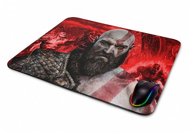 Mousepad Gamer God of War Kratos II