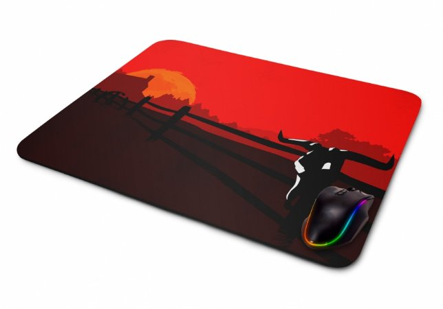 Mousepad Gamer Red Dead Redemption Minimalista