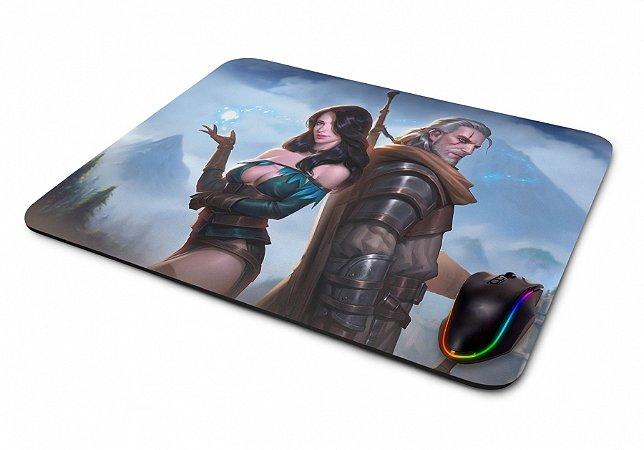 Mousepad Gamer The Witcher Yennefer e Geralt