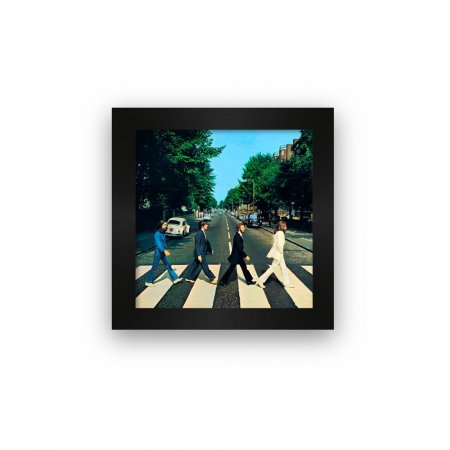 Quadro azulejo com moldura Beatles Abbey Road
