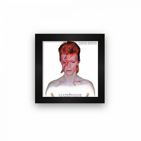 Quadro azulejo com moldura David Bowie Alladin Sane