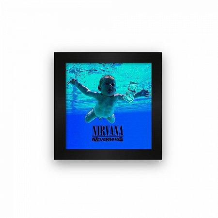 Quadro azulejo com moldura Nirvana Nevermind