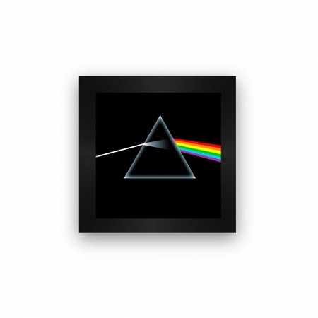 Quadro azulejo com moldura Pink Floyd Dark Side of the moon