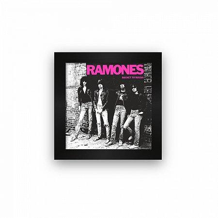 Quadro azulejo com moldura Ramones Rock to Russia