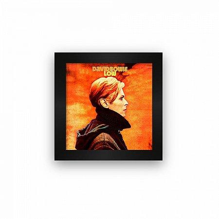 Quadro azulejo com moldura David Bowie Low