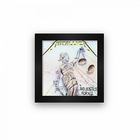 Quadro azulejo com moldura Metallica And Justice For All