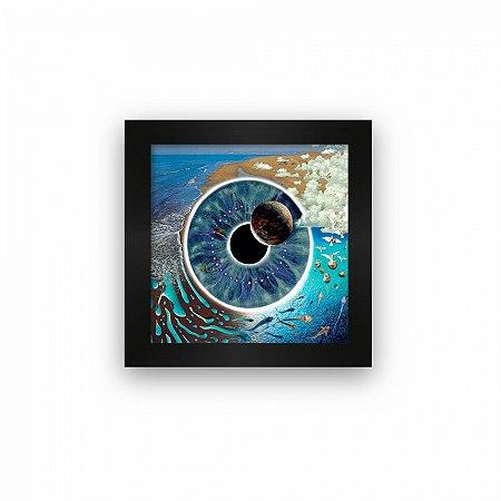 Quadro azulejo com moldura Pink Floyd Pulse