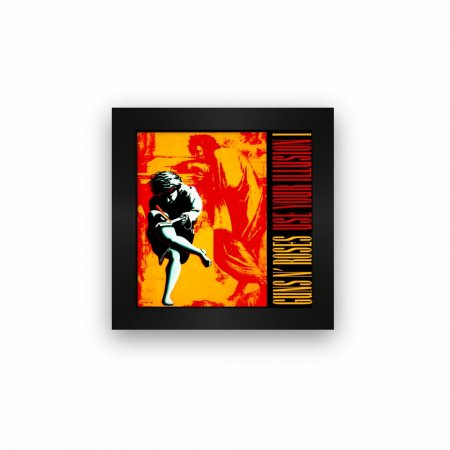 Quadro azulejo com moldura Guns in Roses Use Your Illusion I
