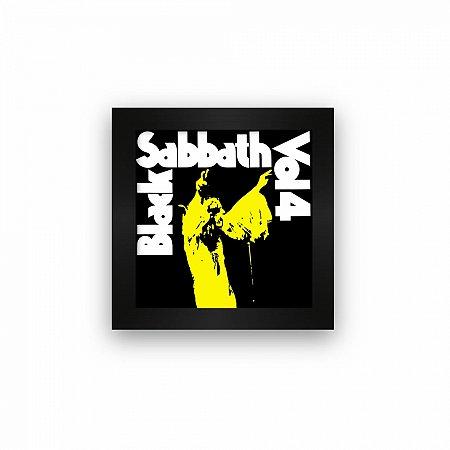 Quadro azulejo com moldura Black Sabbath VOL4