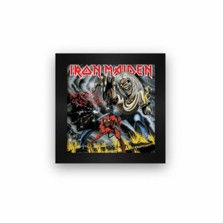 Quadro azulejo com moldura Iron Maiden The Number Of The Bea