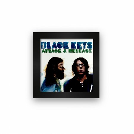 Quadro azulejo com moldura The Black Keys Attack And Release