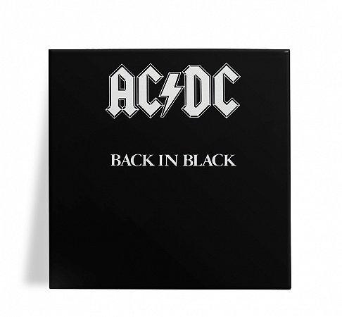 Azulejo Decorativo AC DC Back in Black 15x15