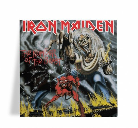 Azulejo Decorativo Iron Maiden The Number of the Beast 15x15