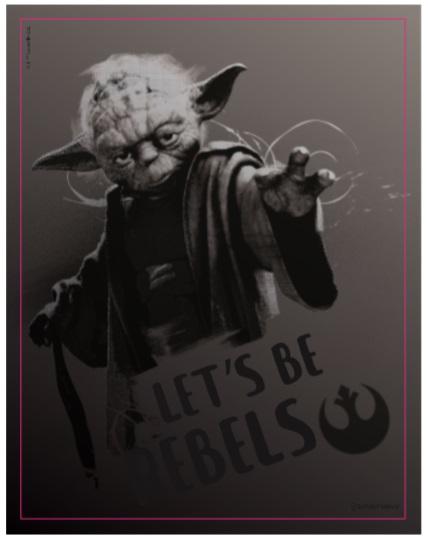 Quadro metal Star Wars Mestre Yoda 26X20CM